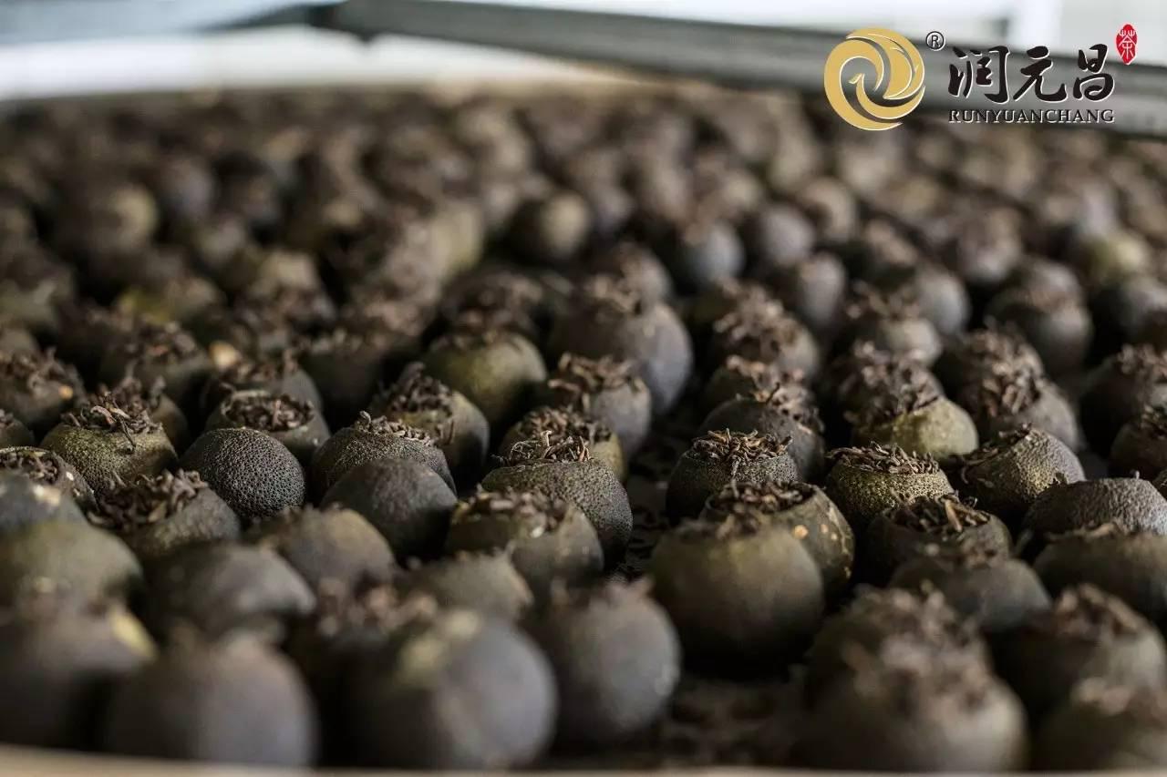 柑普茶制作过程四-低温烘焙