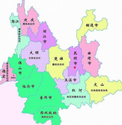 普洱茶產地分布圖