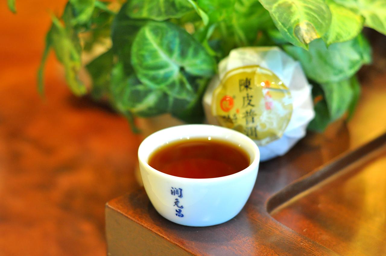 大红柑普洱茶汤色图片