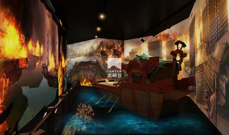 蔡家坡·三国主题游乐园-火烧赤壁