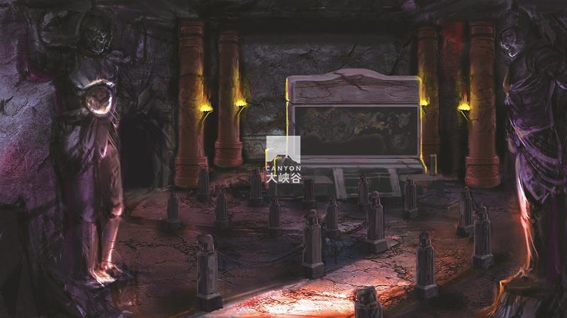 乐华·欢乐世界·盗墓鬼屋-古墓入口
