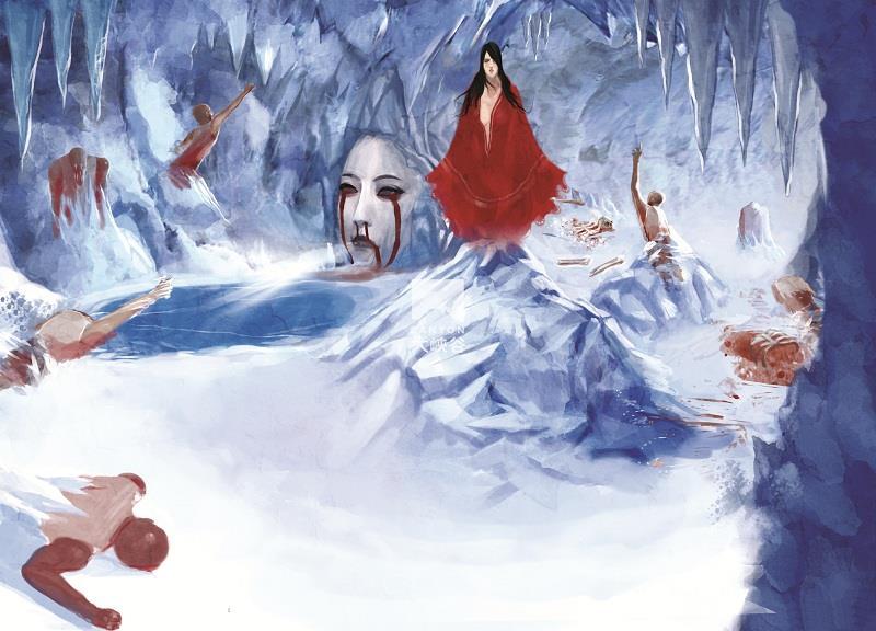深圳欢乐谷迷藏鬼屋-6、红雪-布景2