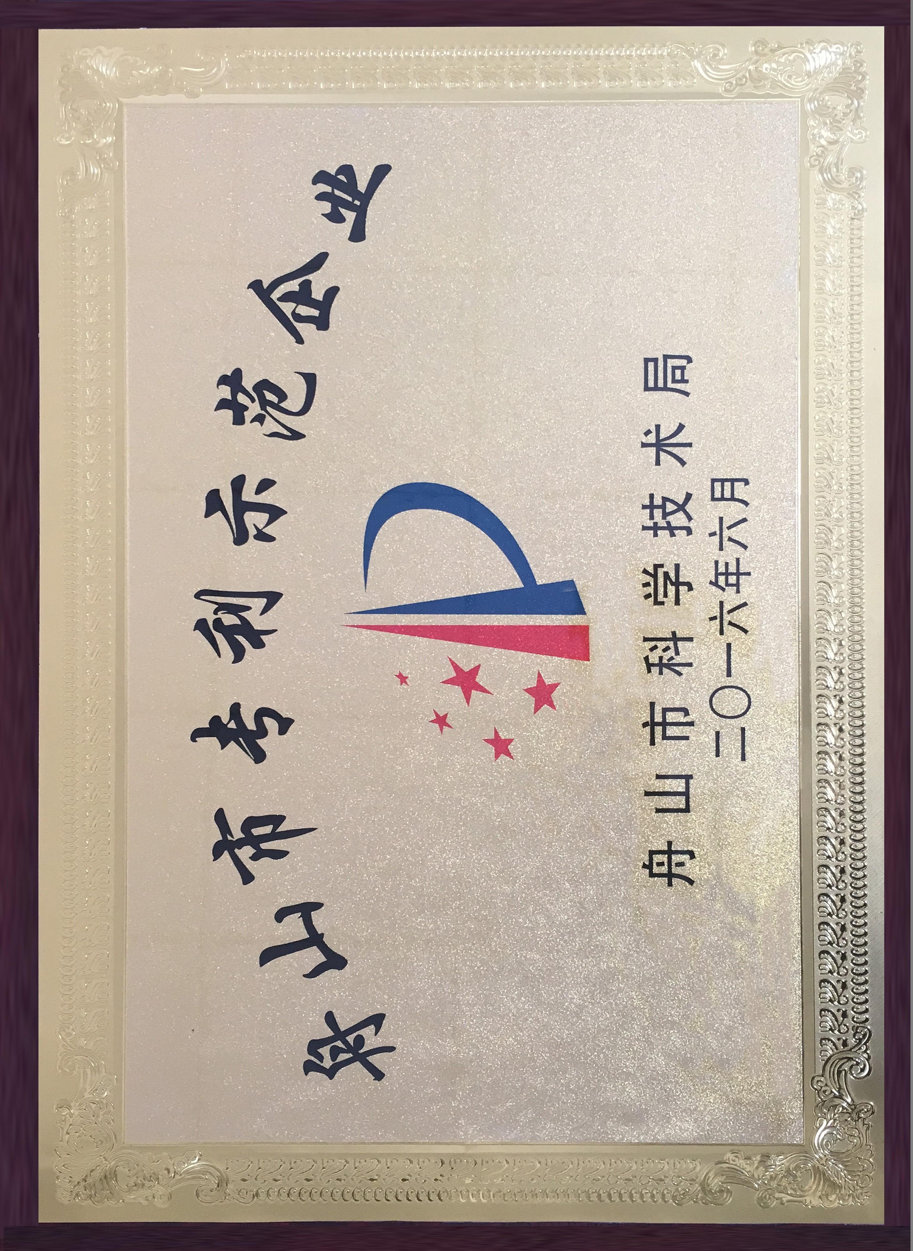 舟山市專利示范企業