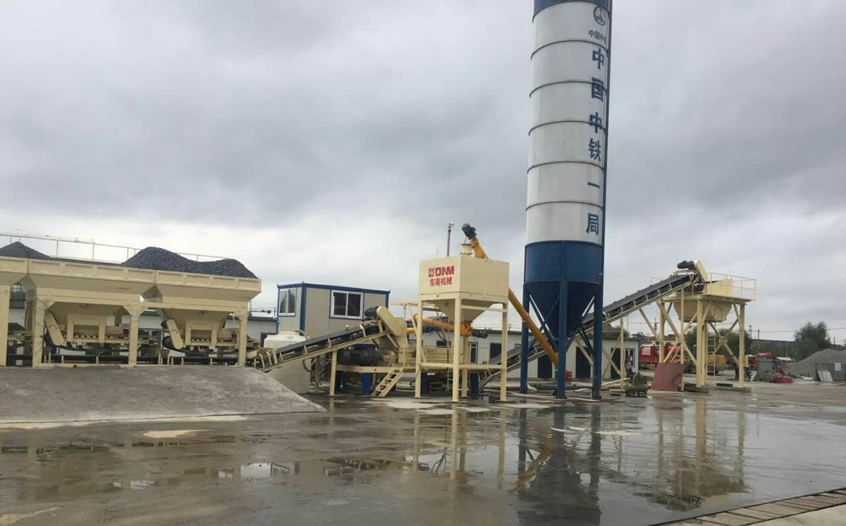 混凝土攪拌站與穩定土廠拌設備工程案例