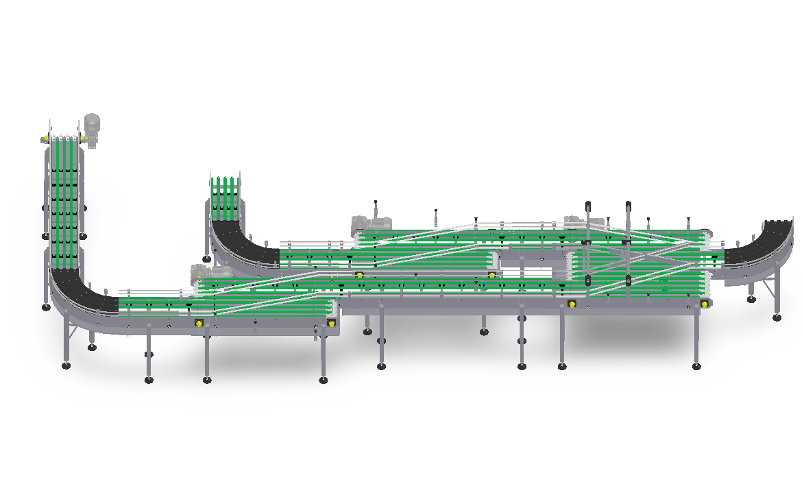 复杂多段链板输送线1