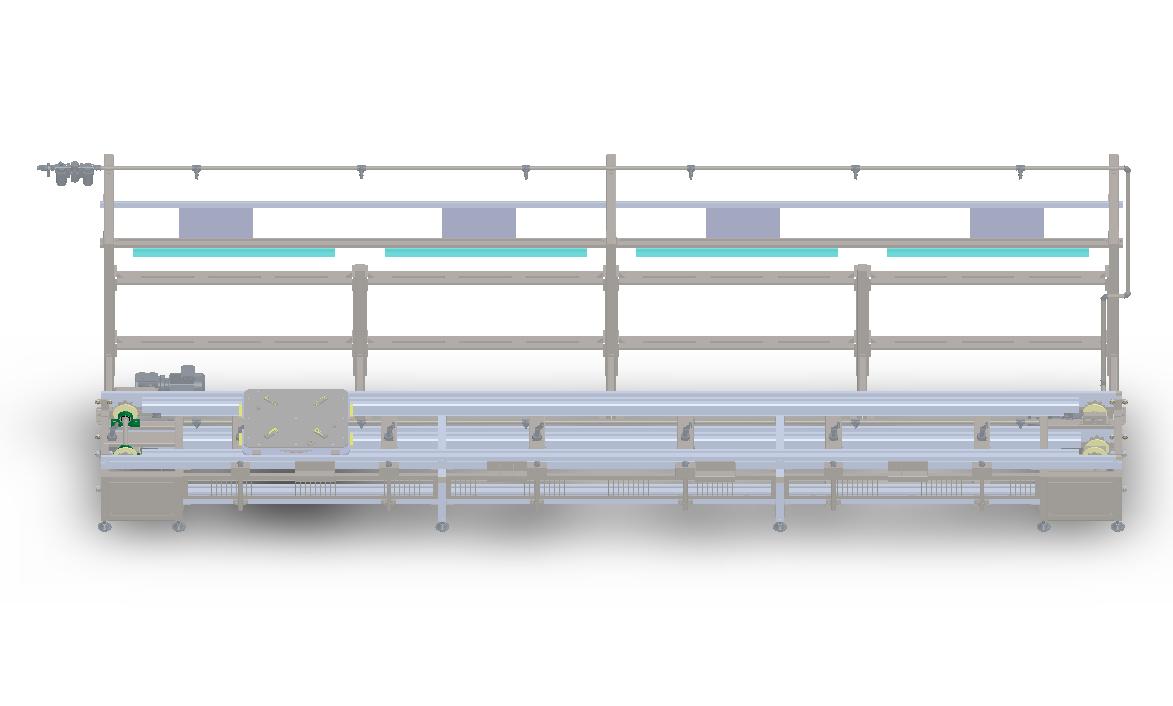 双层倍速链输送线3