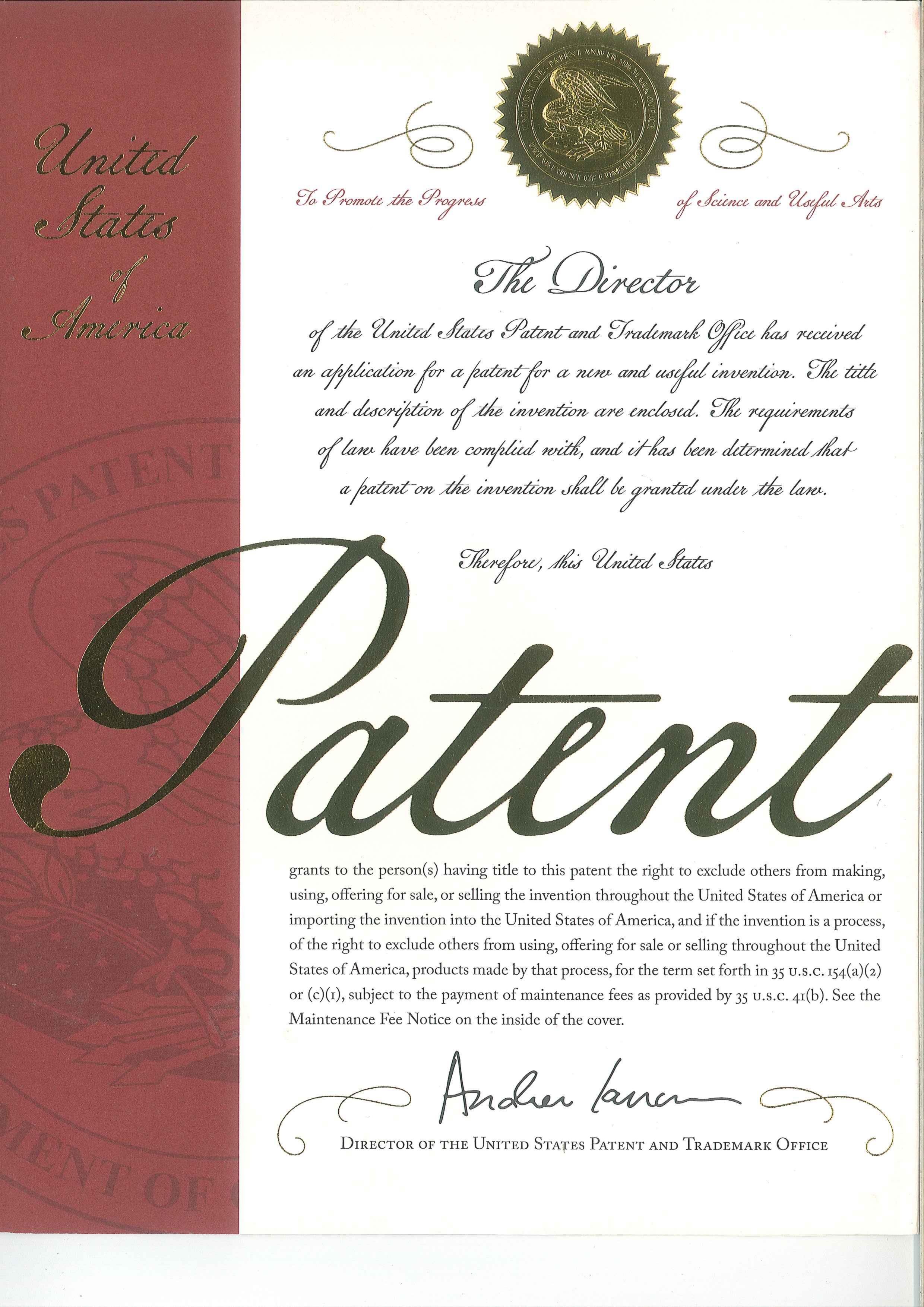 国际发明专利证书-1