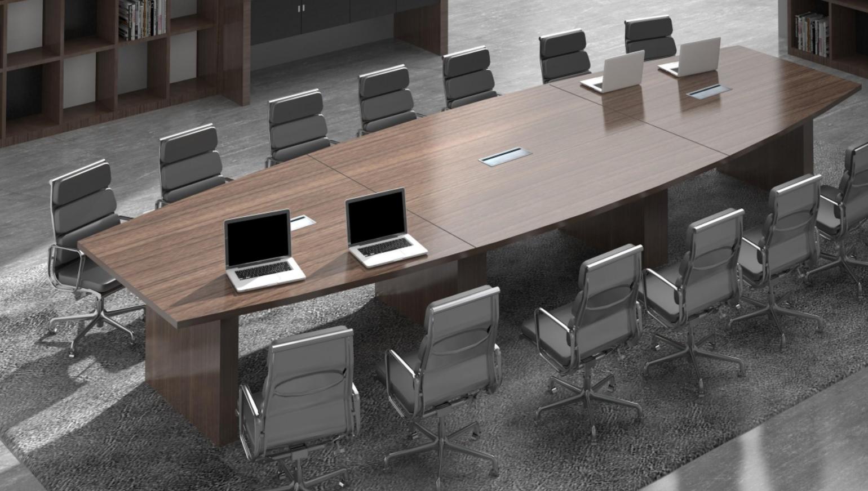 加厚膠板會議桌4