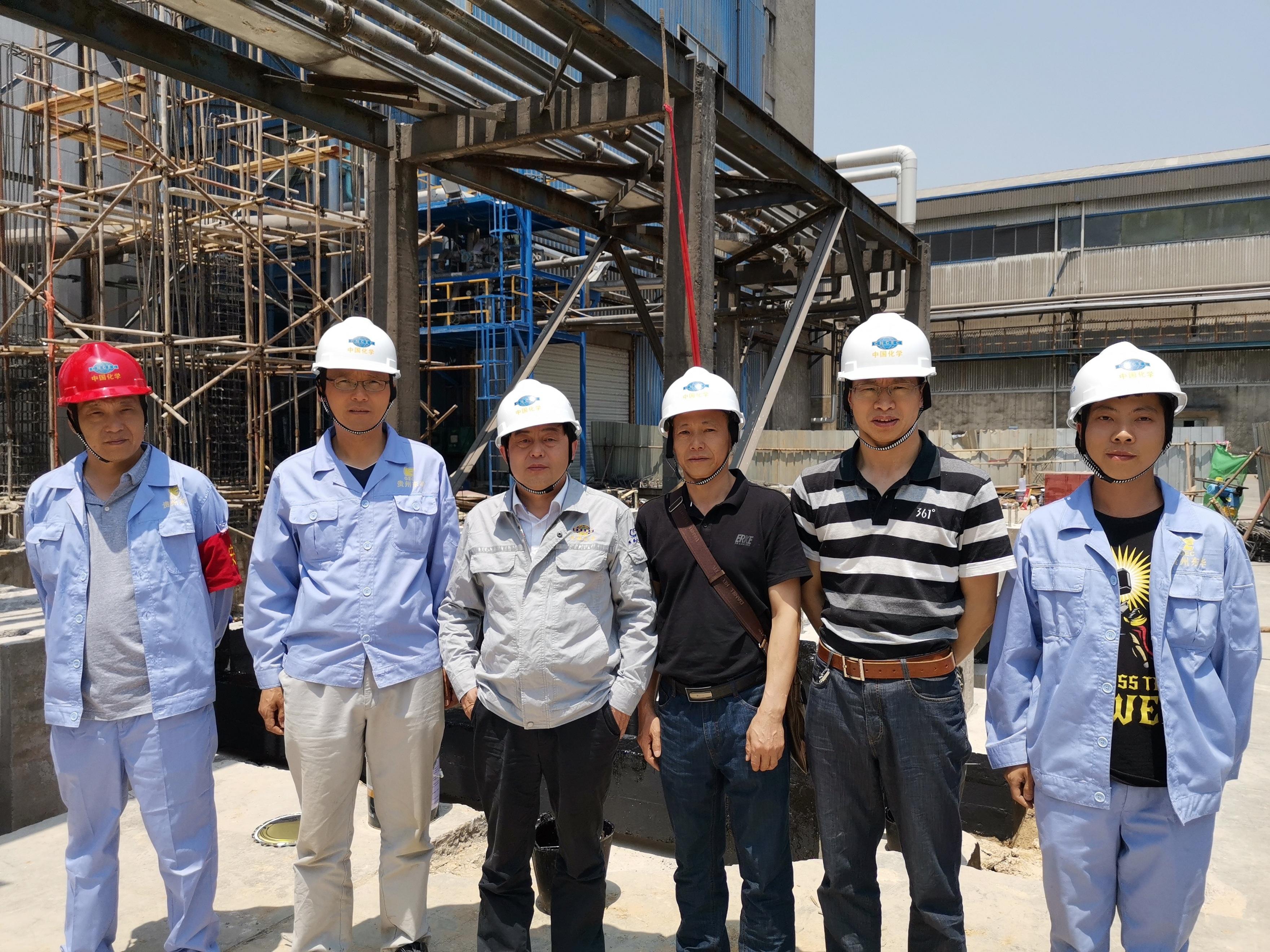 东华科技副总经理朱定华到天安红磷项目现场查抄指导事情