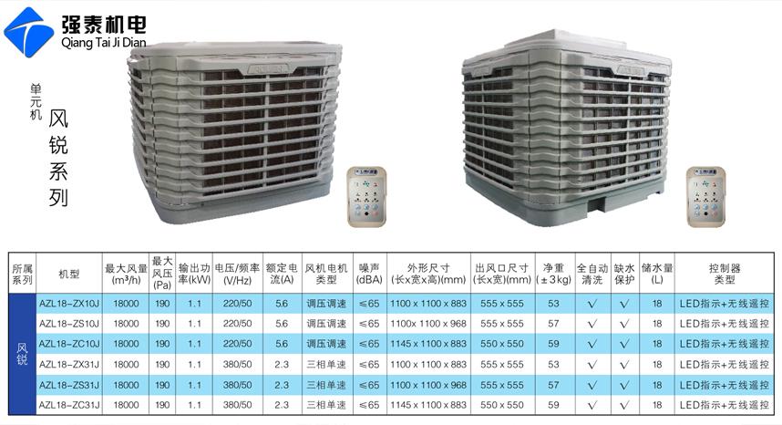 澳蓝环保空调风锐系列产品型号及参数