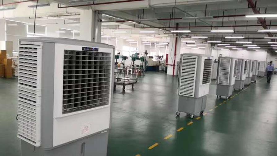移动式环保空调设备安装效果图