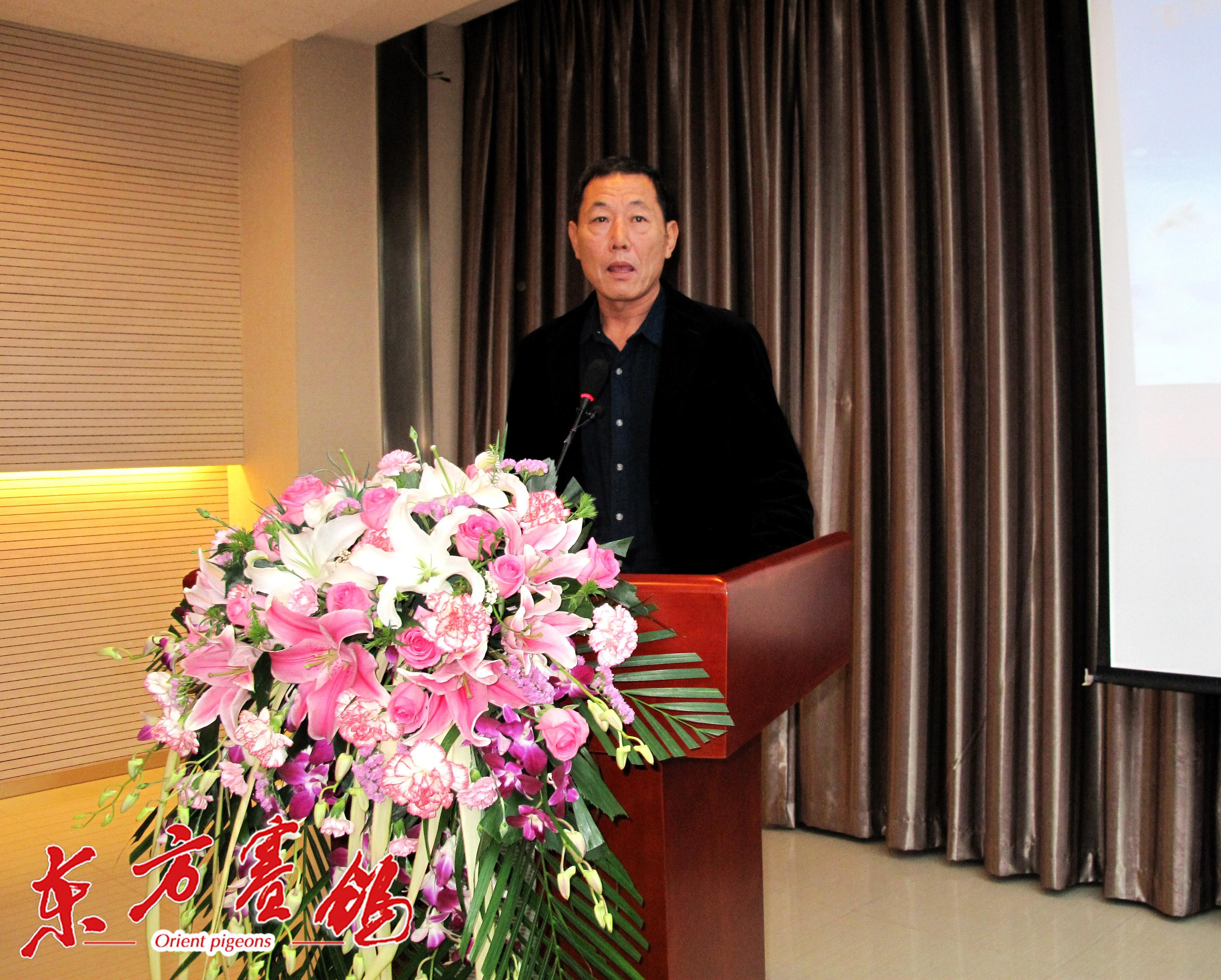 7、天津津福公棚董事长李福太讲话。