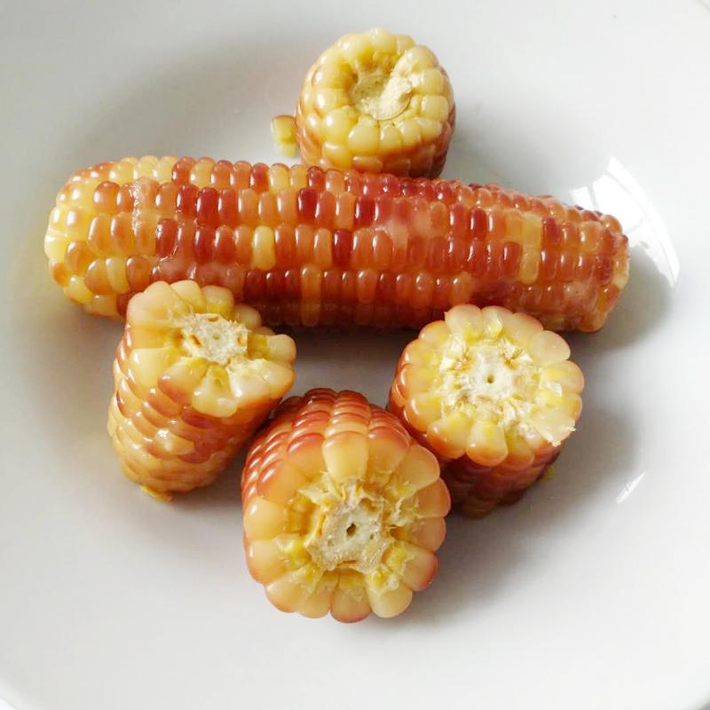 沪食紫糯玉米熟玉米开袋即食单根真空包装香甜软糯崇明玉米棒2袋2