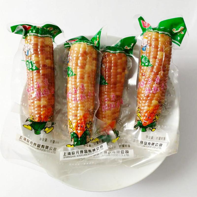 沪食紫糯玉米熟玉米开袋即食单根真空包装香甜软糯崇明玉米棒2袋4