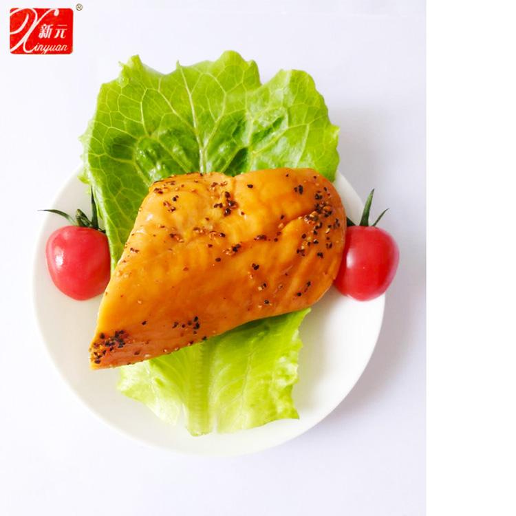 新元黑椒雞胸雞胸肉輕食即食真空小包裝雞胸脯健身即食零食4袋6