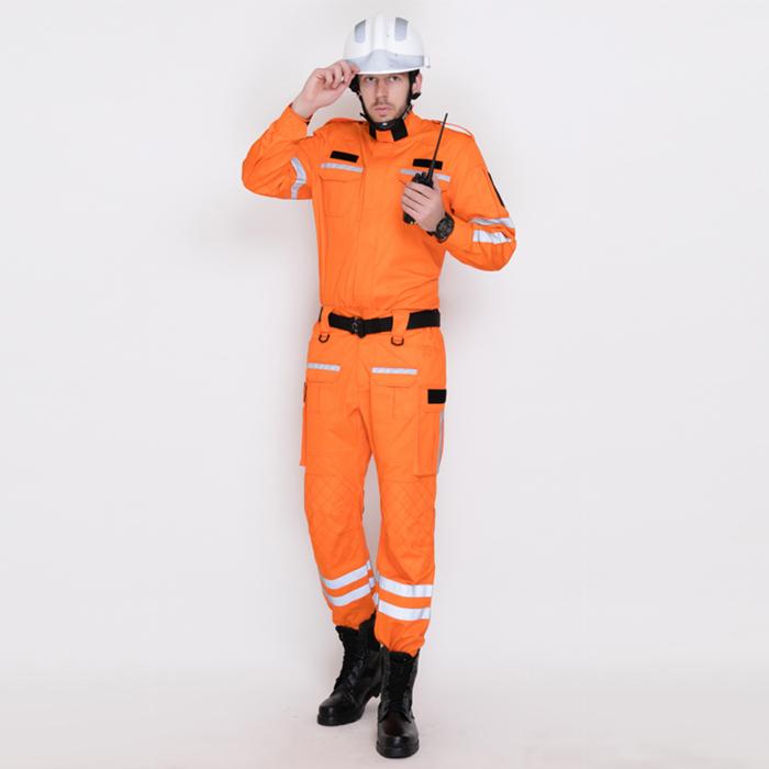 橙紅色戶外應急救援作訓服套裝