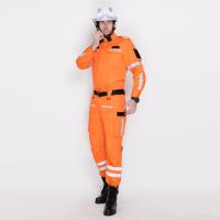 橙紅色戶外應急救援作訓服套裝4