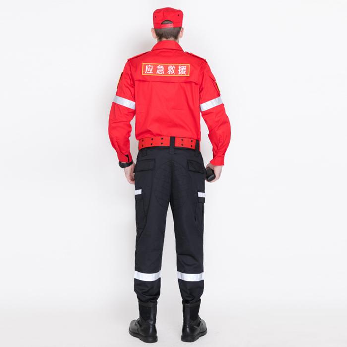 紅色戶外應急救援作訓服