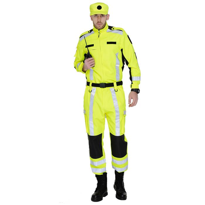 檸檬黃熒光綠國際救援隊服