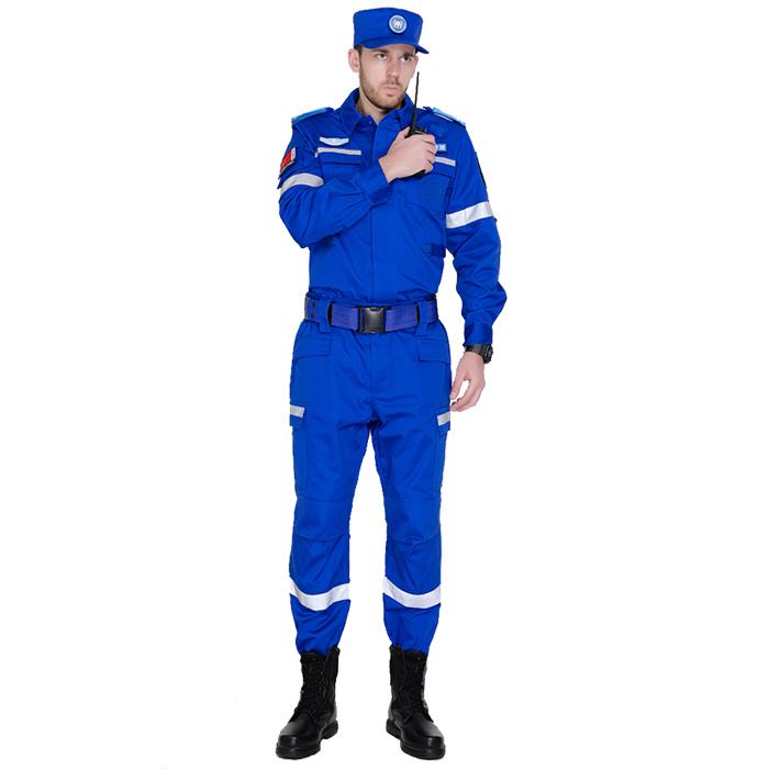 藍色戶外應急救援作訓服