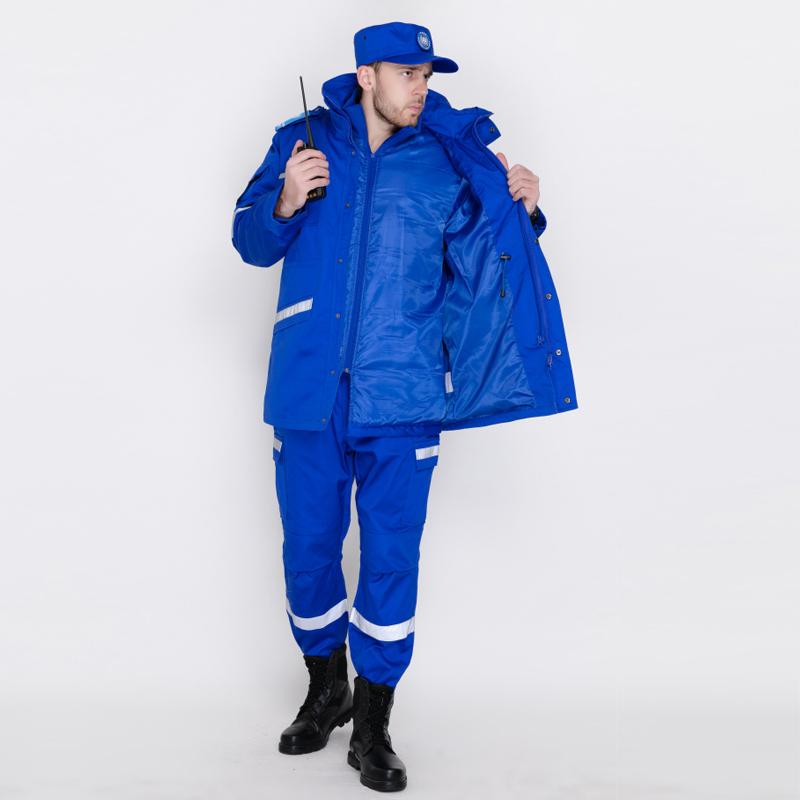 藍色冬季救援棉服