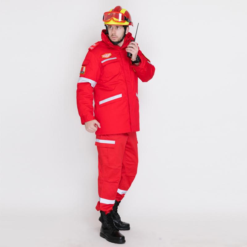 紅色冬季救援棉服