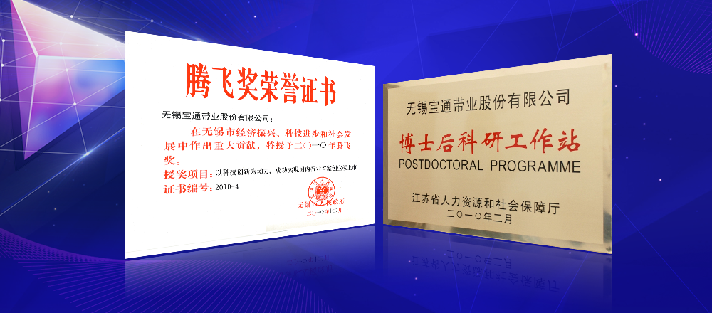 2010年,無錫市騰飛獎;江蘇省級博士后科研工作站。