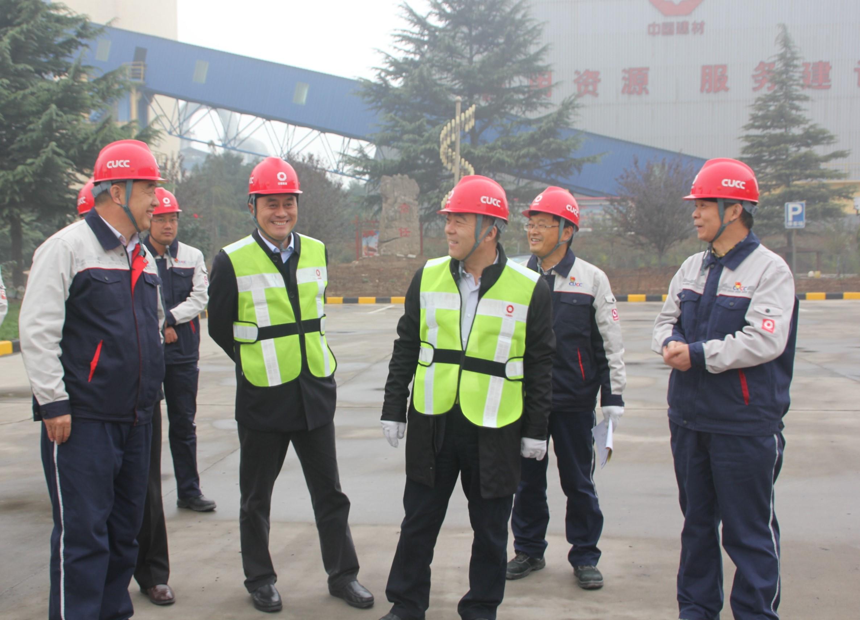 中国建材股份公司副总裁张金栋一行莅临新安中联检查指导工作