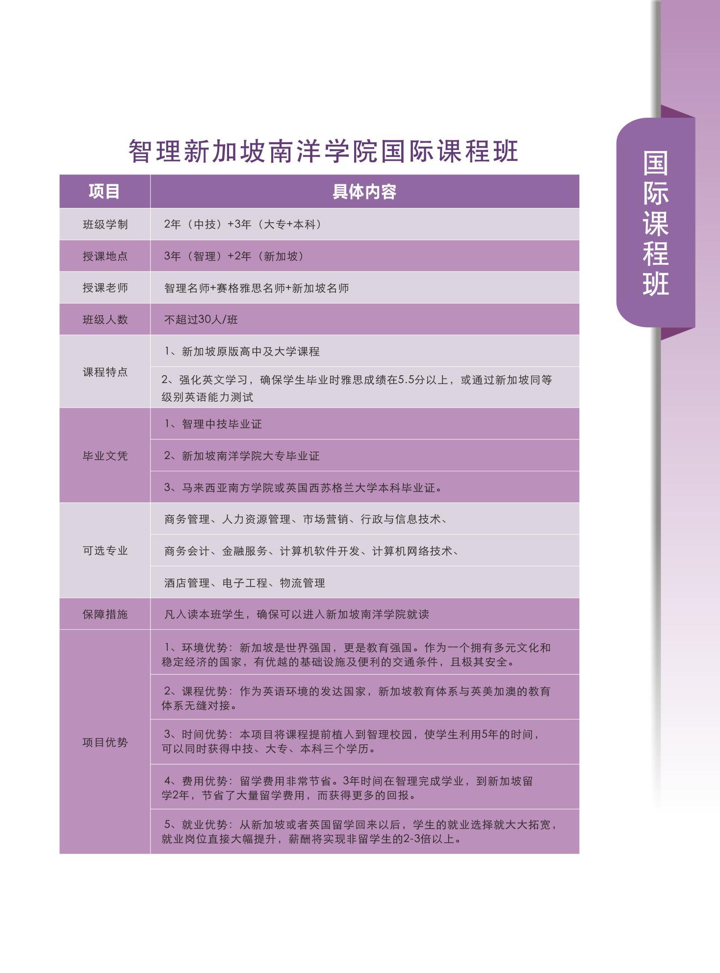 深圳市智理技工学校2019年招生简章国际课程班
