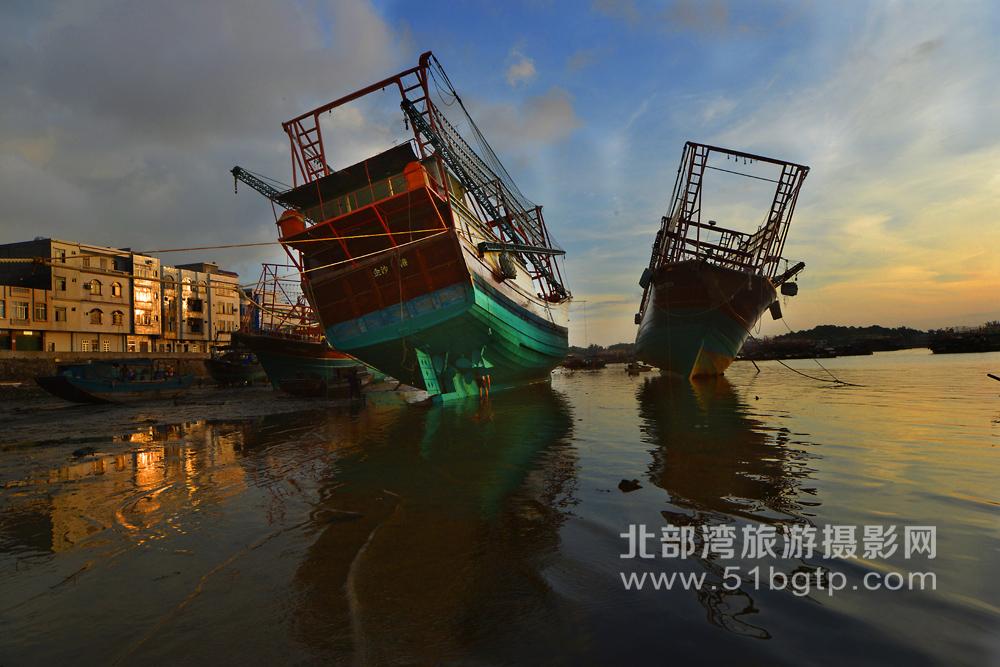 張大進作品-漁港晨光張大進攝影