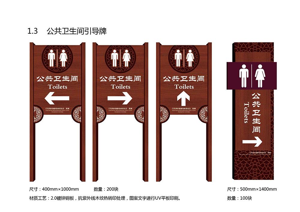 3公共衛生間引導牌