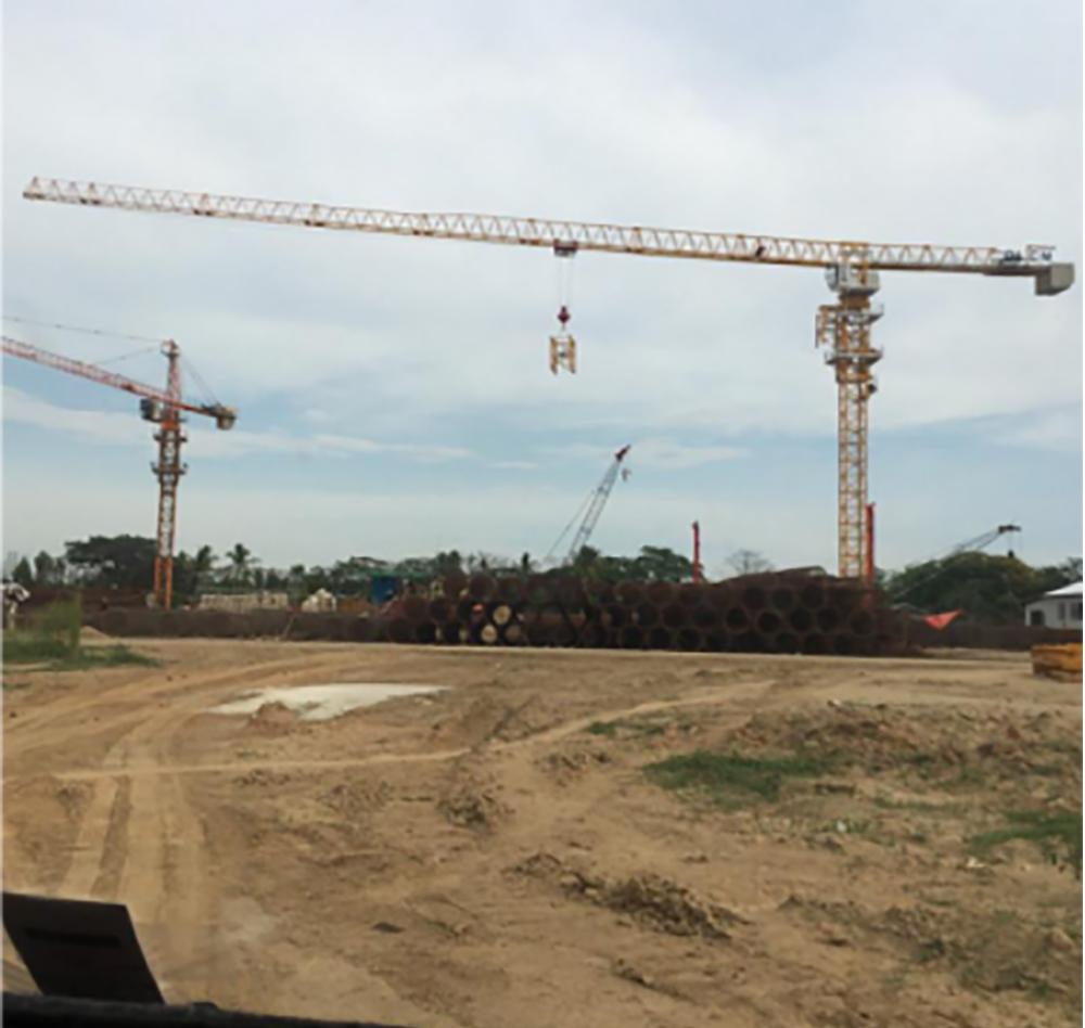 2017年強力平頭系列大型塔機進入緬甸
