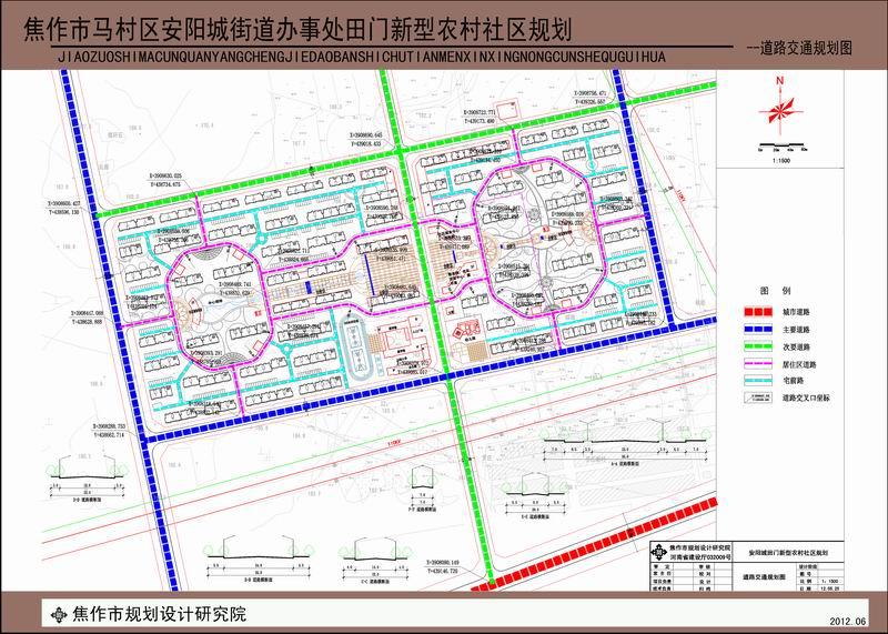 田门社区-道路交通规划图