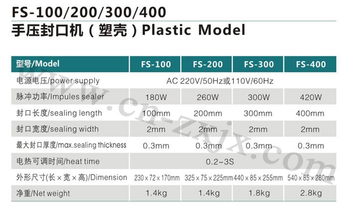 FS-100、200、300、400手壓封口機-塑殼1