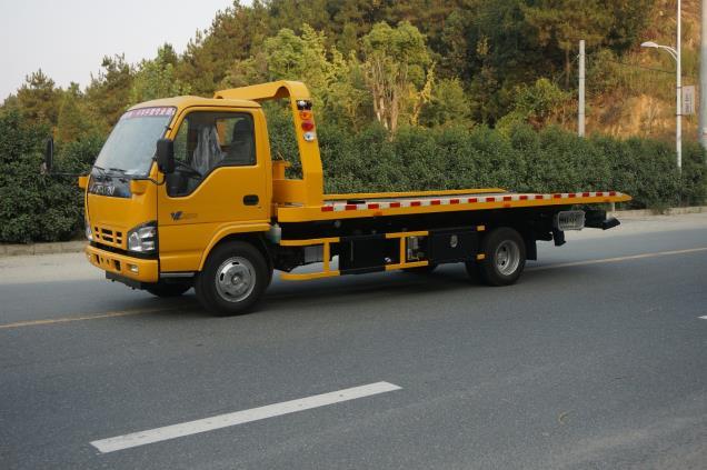 帕菲特牌PFT5071TQZP5型五十铃600P型3吨平板-3P2E-清障车