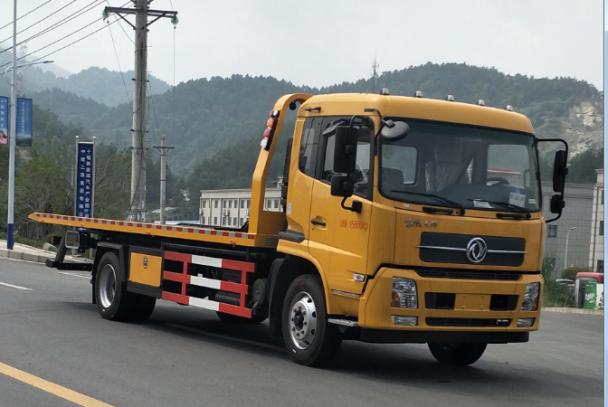 帕菲特牌PFT5162TQZP5型东风天锦8吨平板清障车