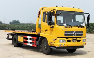 帕菲特牌PFT5160TQZP5型东风天锦5吨平板清障车