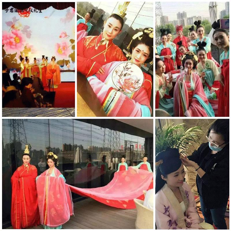 北京京彩新娘化妆学校实习花絮