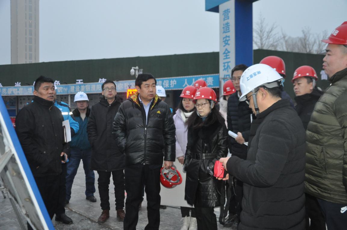 集團公司董事長郭紀元、總經理王永梅調研集團所屬在建項目