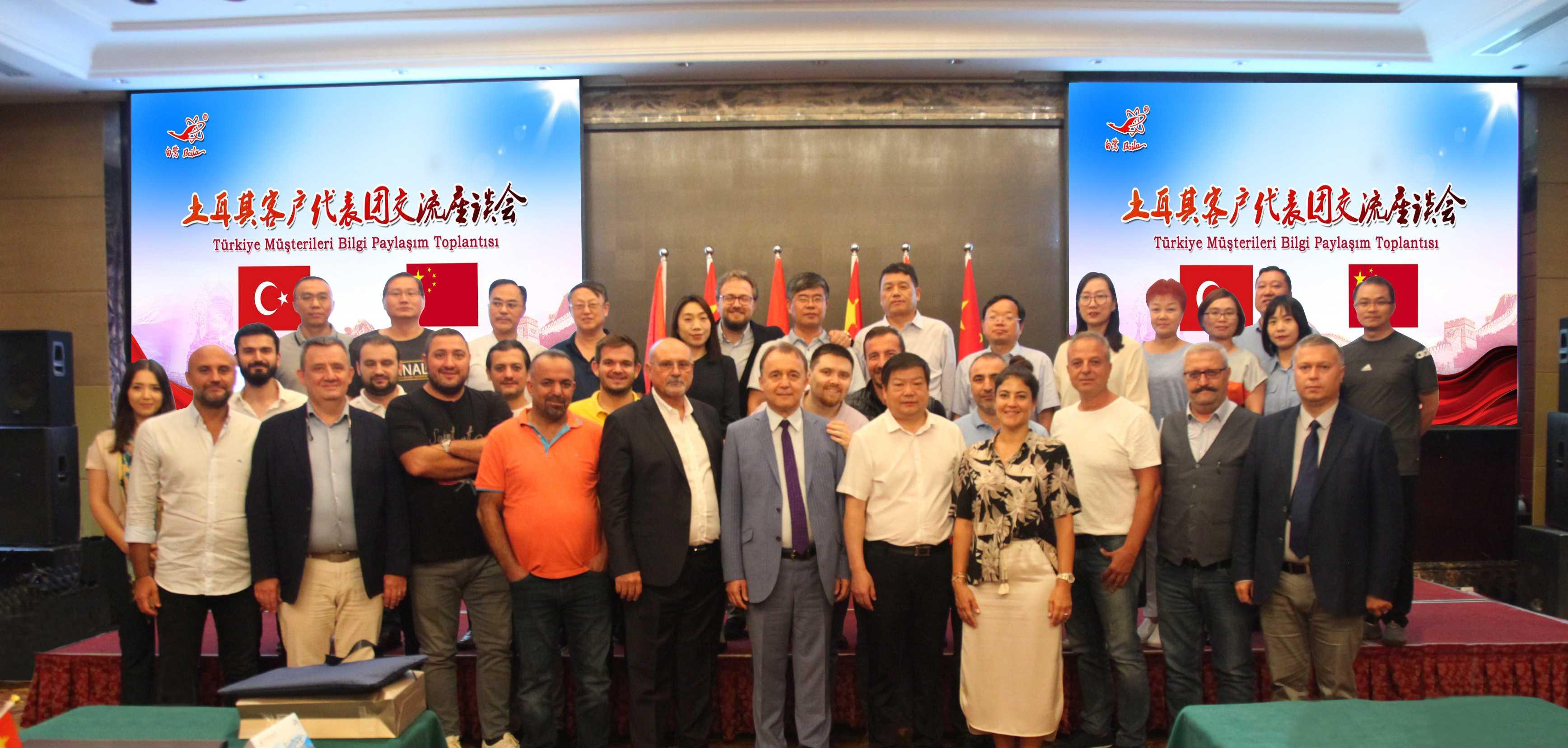 土耳其客戶代表團到公司參觀交流