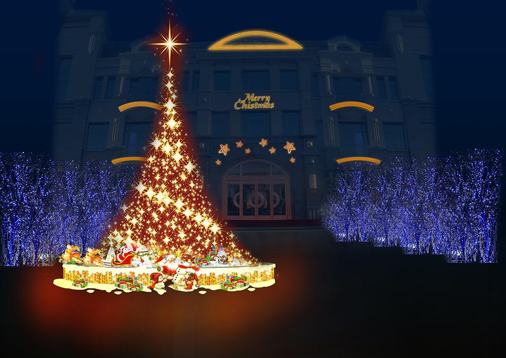 萬達公館圣誕裝飾