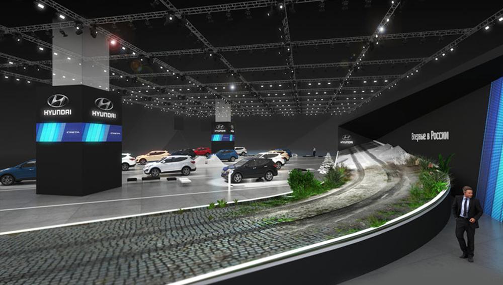 現代汽車展臺