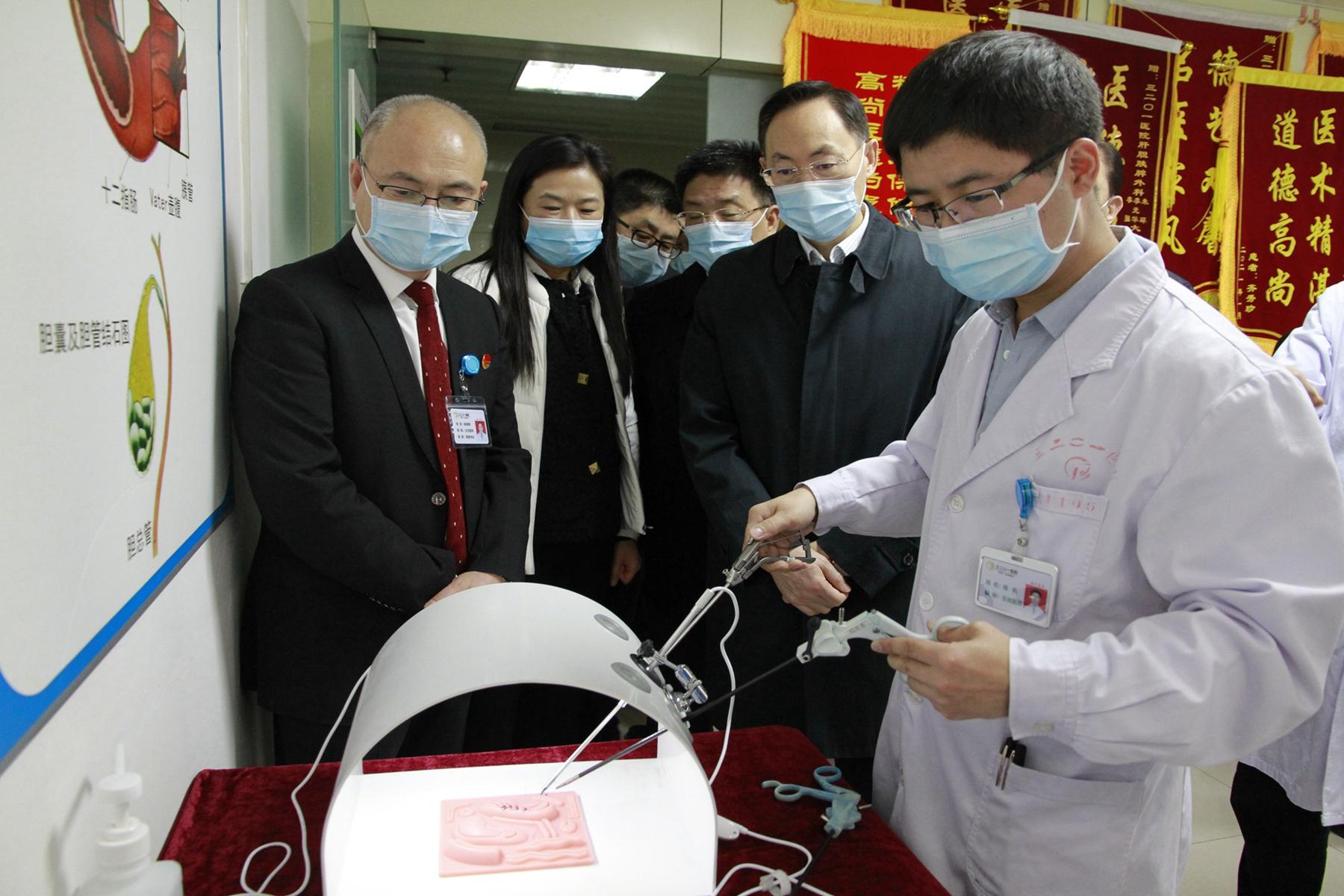 通用技术集团董事长于旭波一行莅临3201医院调研指导工作