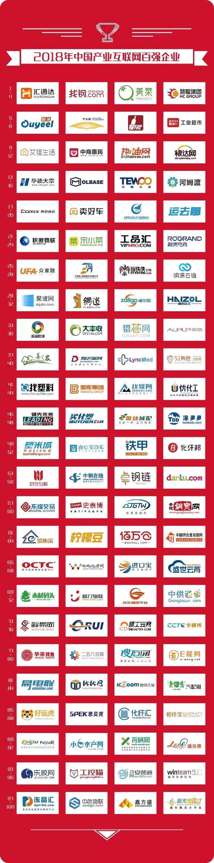 2018年中國產業互聯網百強企業第13名