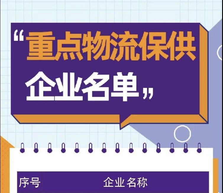 """華能智鏈入選江蘇省疫情防控""""重點物流保供企業名單"""""""