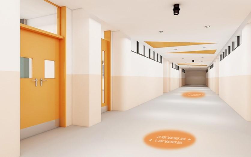 橙色教室走廊