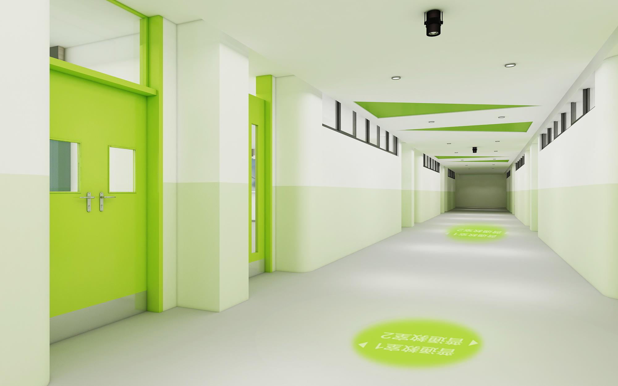 绿色教室走廊