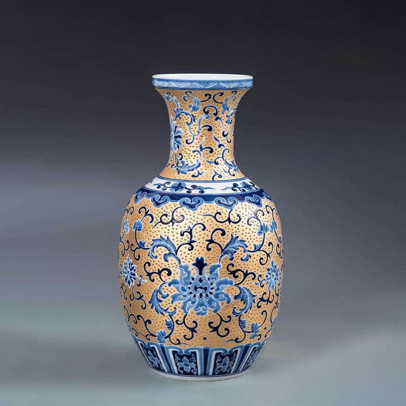 花蓝瓶满堂莲