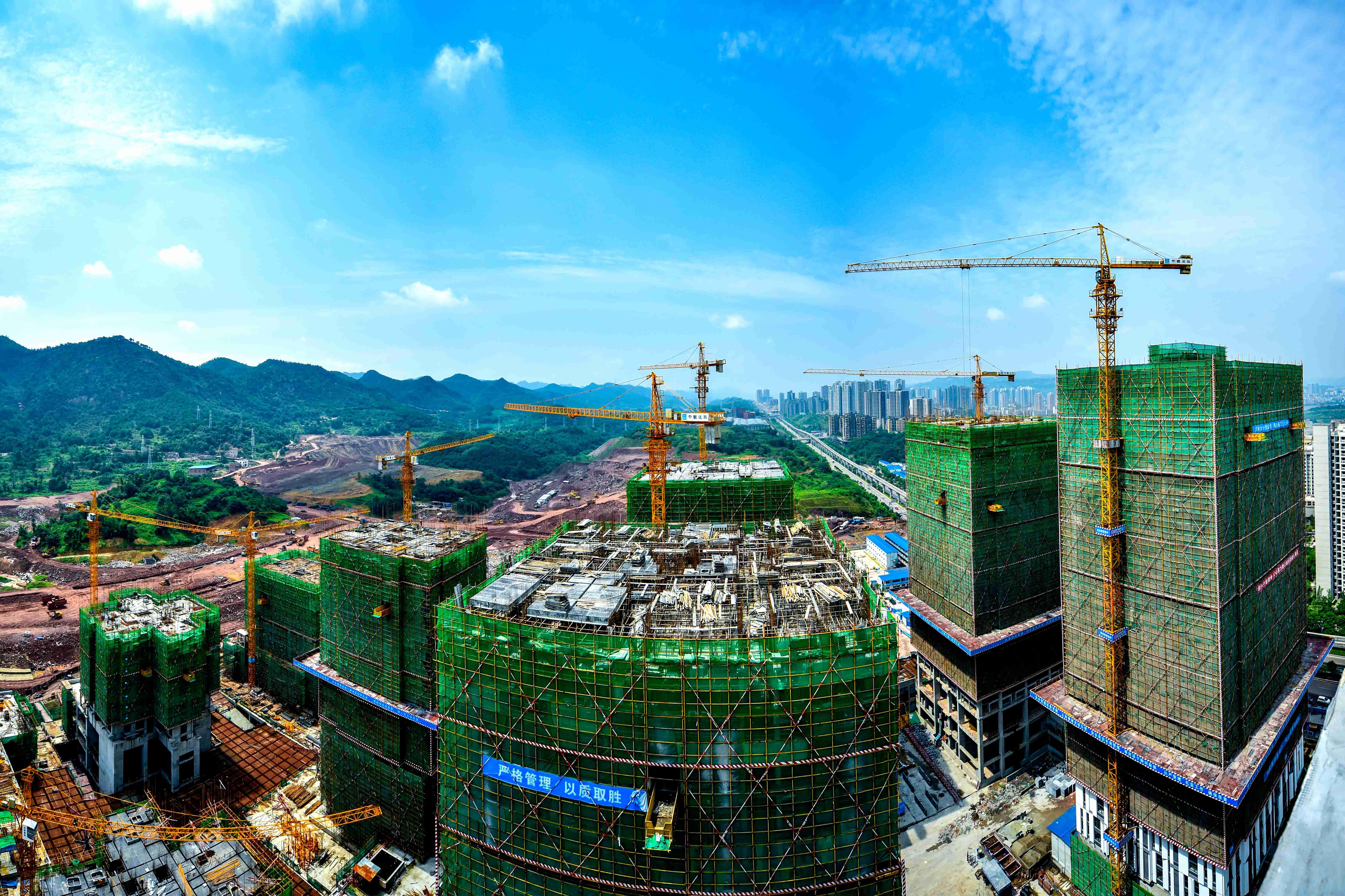 建設中的萬達廣場