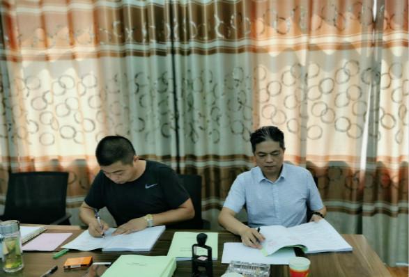 業主與公司簽訂葉路洲環洲堤頂路工程合同